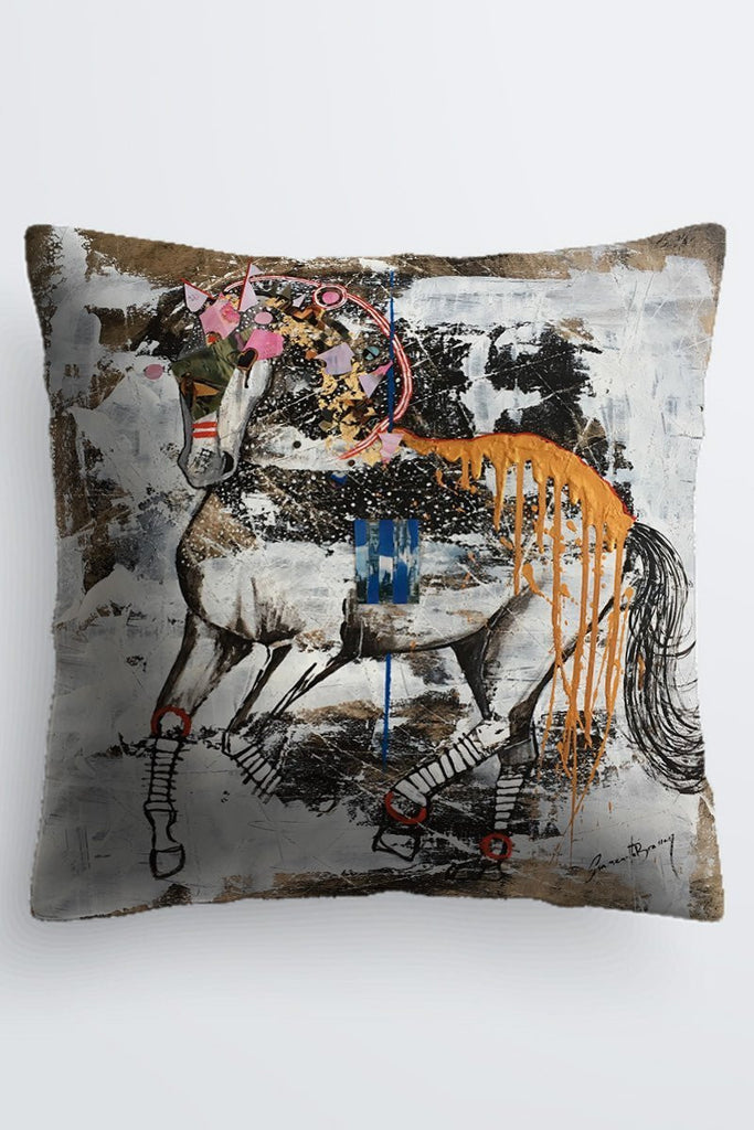 "Shanah Equestrian ""Dreams Come True"" Cushion  69.95"