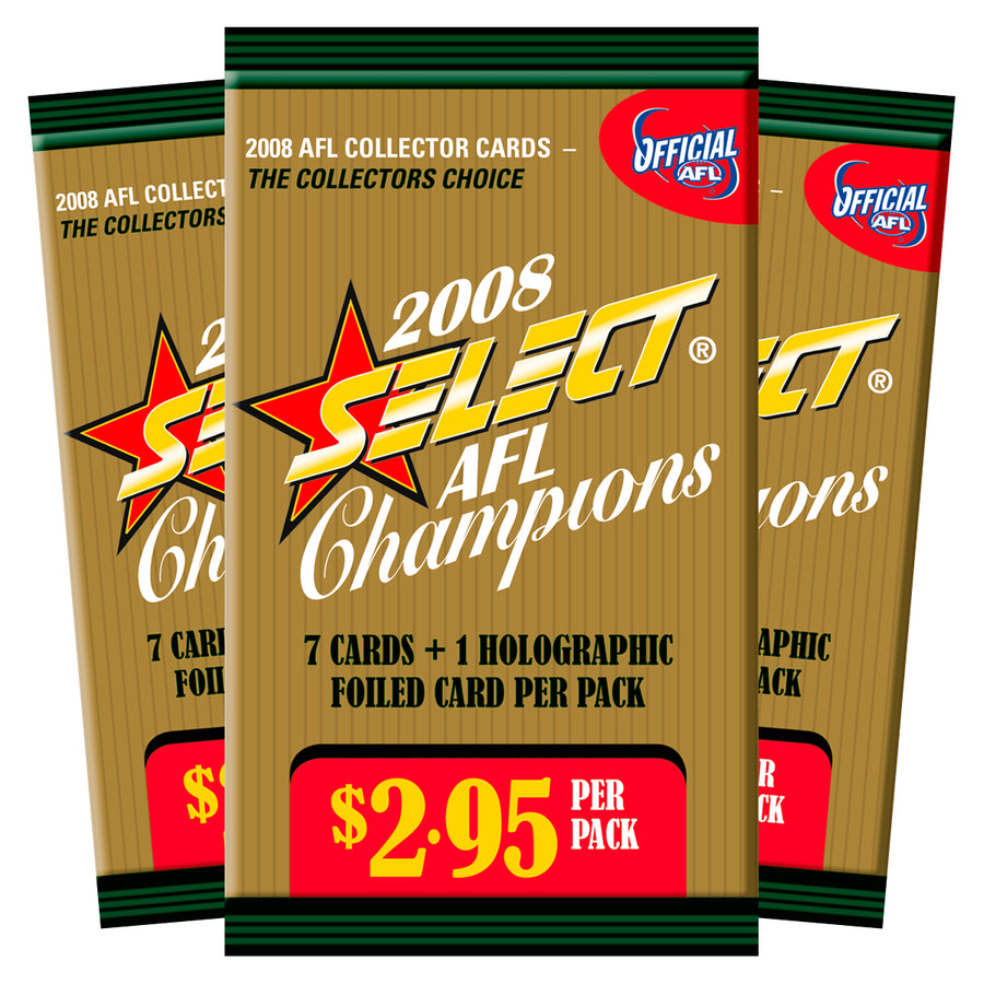 2008 AFL CHAMPIONS CARDS PACK