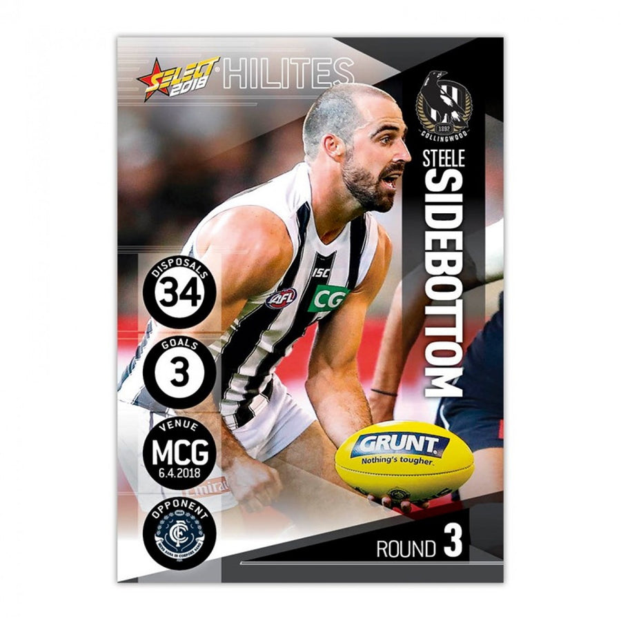 2018 ROUND 3 HILITE CARD - STEELE SIDEBOTTOM