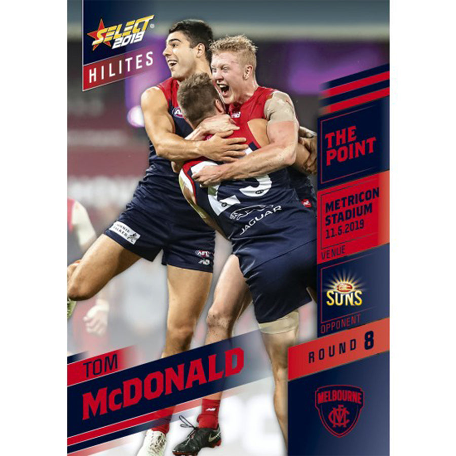 2019 HILITE CARD ROUND 8 - TOM MCDONALD