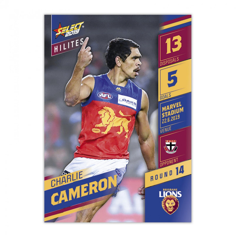 2019 HILITE CARD ROUND 14 - CHARLIE CAMERON