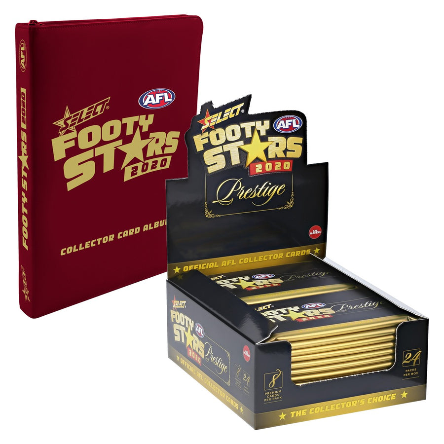 2020 FOOTY STARS PRESTIGE BOX AND ALBUM BUNDLE