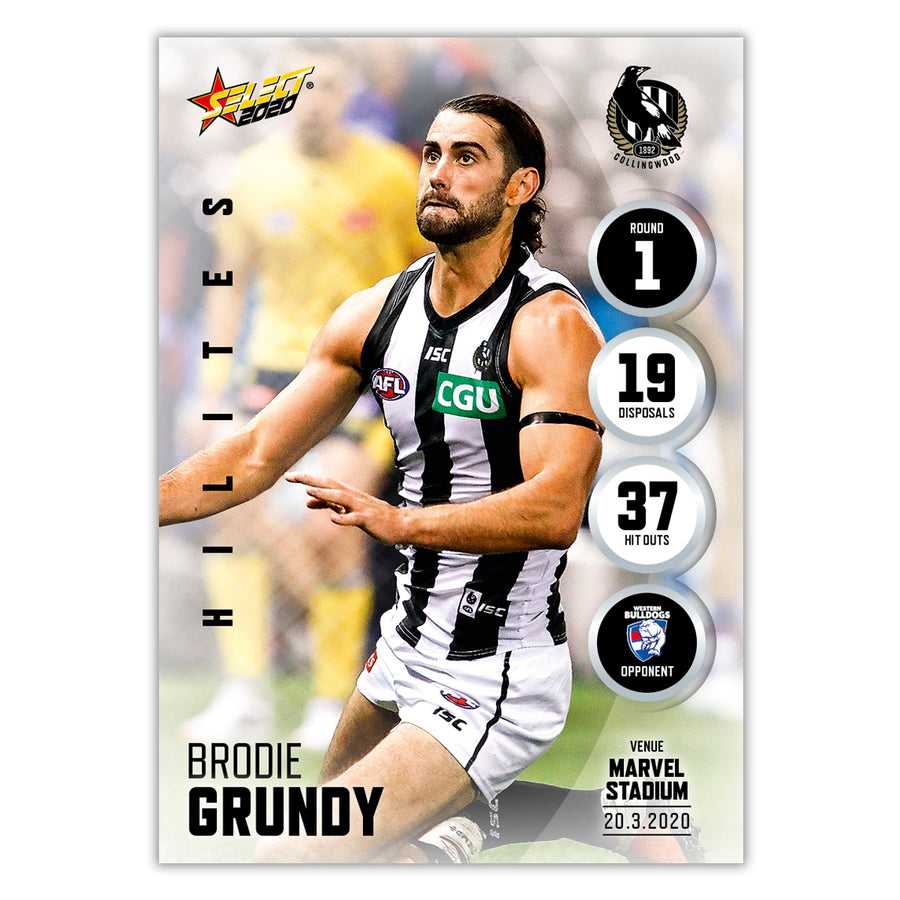 2020 Round 1 Hilite - Brodie Grundy - Collingwood