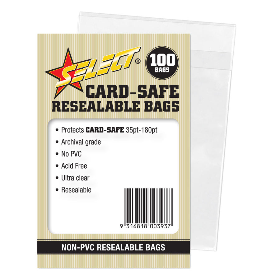 "Select ""Card-Safe"" Resealable Bags"