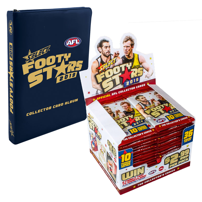2019 Footy Stars Box and Album Bundle