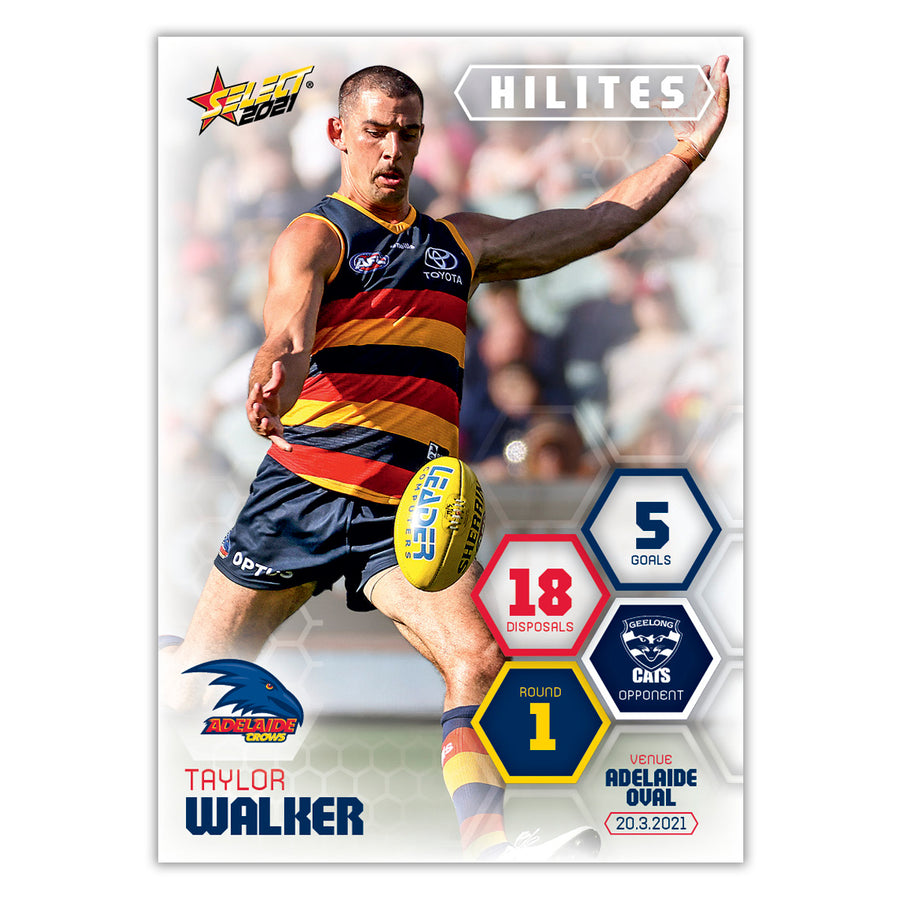 2021 Round 1 Hilites - Taylor Walker - Adelaide Crows