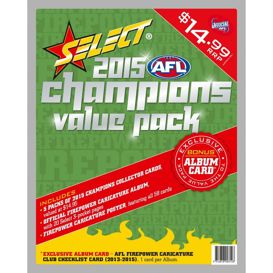 2015 AFL CHAMPIONS VALUE PACK