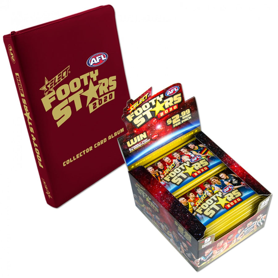 2020 FOOTY STARS BOX AND ALBUM - BUNDLED OFFER - FREE SHIPPING