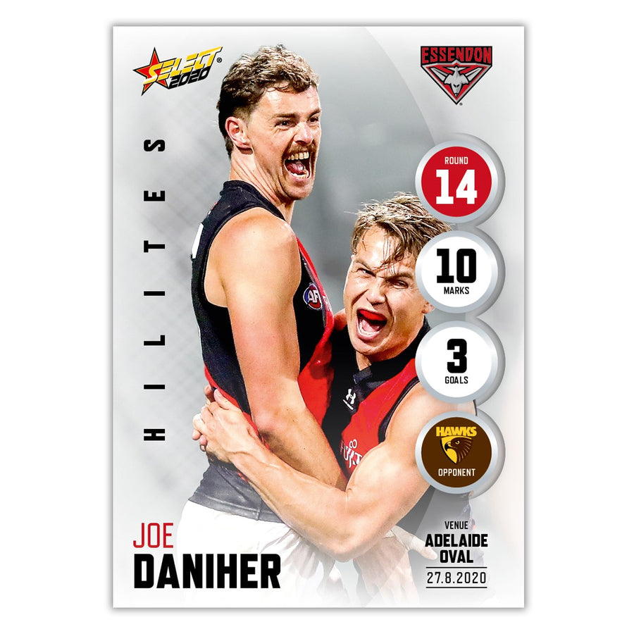 2020 Round 14 Hilite - Joe Daniher - Essendon