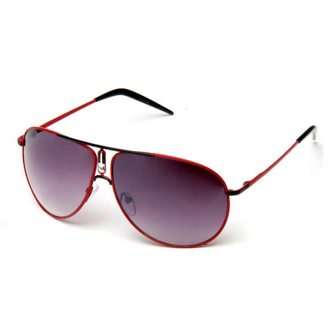 Sunglass Club Aviator Sunglass 1042 Series for Red with Black Trim and Purple Tint Lens 1042-REDPURPLE-B