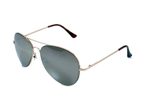 Sunglass Club Aviator Sunglass 7033 Series for Gold with Mirror Tint lens 7033-GOLD-MIRROR-B