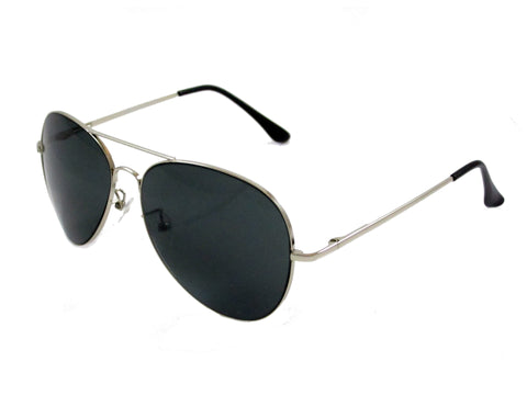 Sunglass Club Aviator Sunglass 7033 Series for Silver with Blue/Gray Tint Lens 7033-SILVER-BLUEGRAY-B