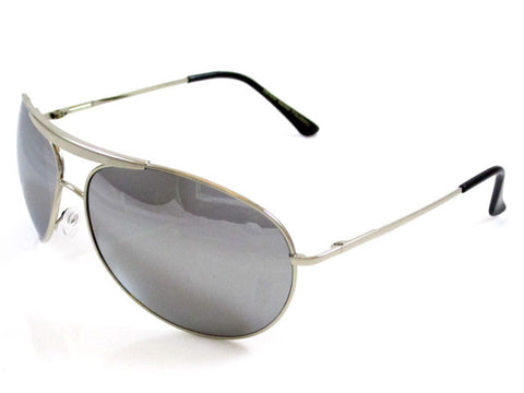 Sunglass Club Aviator Sunglass 7035 Series for Silver with Mirror Lens 7035-SILVER-MIRROR-B