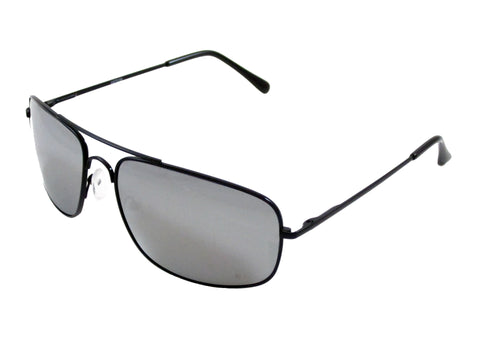 Sunglass Club Aviator Sunglass 7036 Series for Black with Mirror Lens 7036-BLACK-MIRROR-B