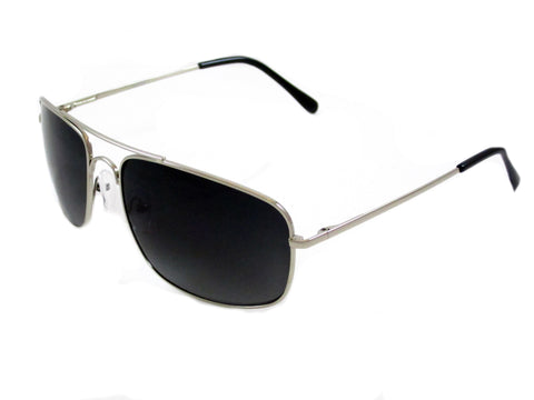 Sunglass Club Aviator Sunglass 7036 Series for Silver with Blue/Gray Lens 7036-SILVER-BLUEGRAY-B