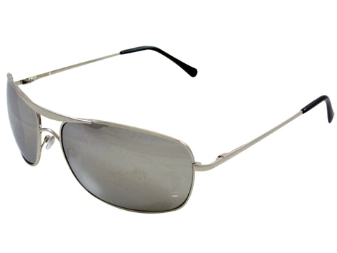 Sunglass Club Aviator Sunglass 7038 Series for Silver with Mirror Lens 7038-SILVER-MIRROR-B