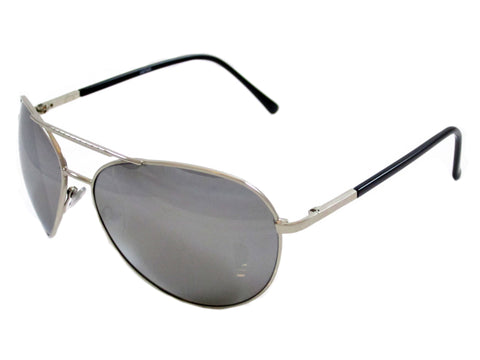 Sunglass Club Aviator Sunglass 7040 Series for Silver with Mirror Lens 7040-SILVER-MIRROR-B