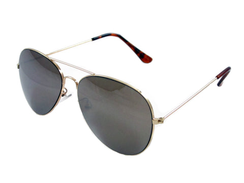 Sunglass Club Aviator Sunglass 7043 Series for Gold with Mirror Lens 7043-GOLD-MIRROR-B