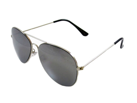Sunglass Club Aviator Sunglass 7043 Series for Silver with Mirror Lens 7043-SILVER-MIRROR-B