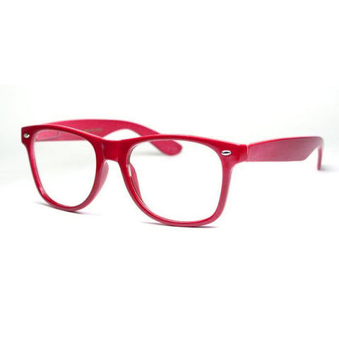 Sunglass Club Wayfarer Sunglass 8032CN Series for Red with Clear Lens 8032CN-RED-B