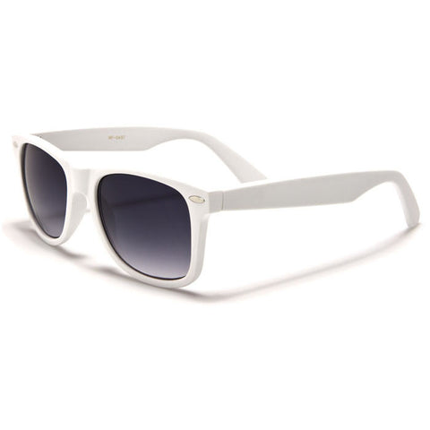Sunglass Club Wayfarer Sunglass 8032S Series for White with Purple Tint Lens 8032S-WHITE-B