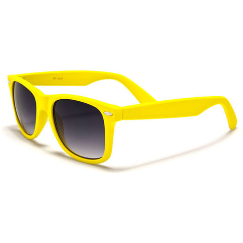 Sunglass Club Wayfarer Sunglass 8032S Series for Bright Yellow with Purple Tint Lens 8032S-BYELLOW-B