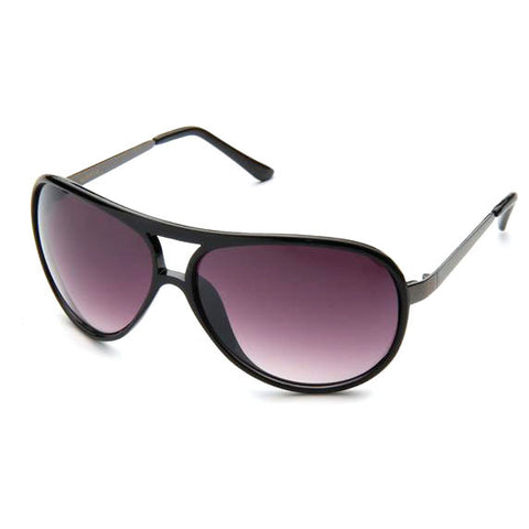 Sunglass Club Aviator Sunglass 8995 Series for Black with Gray Tint Lens 8995-BLACK-B