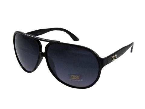 Sunglass Club Aviator Sunglass 9001 Series for Black with Black Band and Blue Tint Lens 9001-BLACK-BLACK-BLUE-B