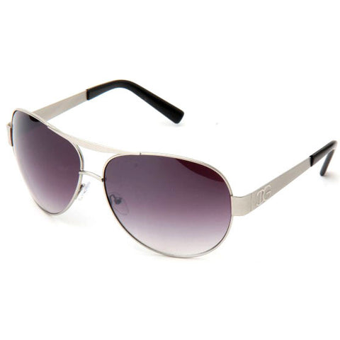 Sunglass Club Aviator Sunglass 9121 Series for Silver with Gray/Purple Tint Lens 9121-SILVERPURPLE-B