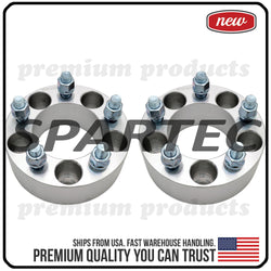 "Spartec Wheel Spacers (Pair 2pcs) for 2PC 50mm (2"") 5x114.3 5x4.5 82.5 Center Bore 1/2""x20 WA-SPC-87252"