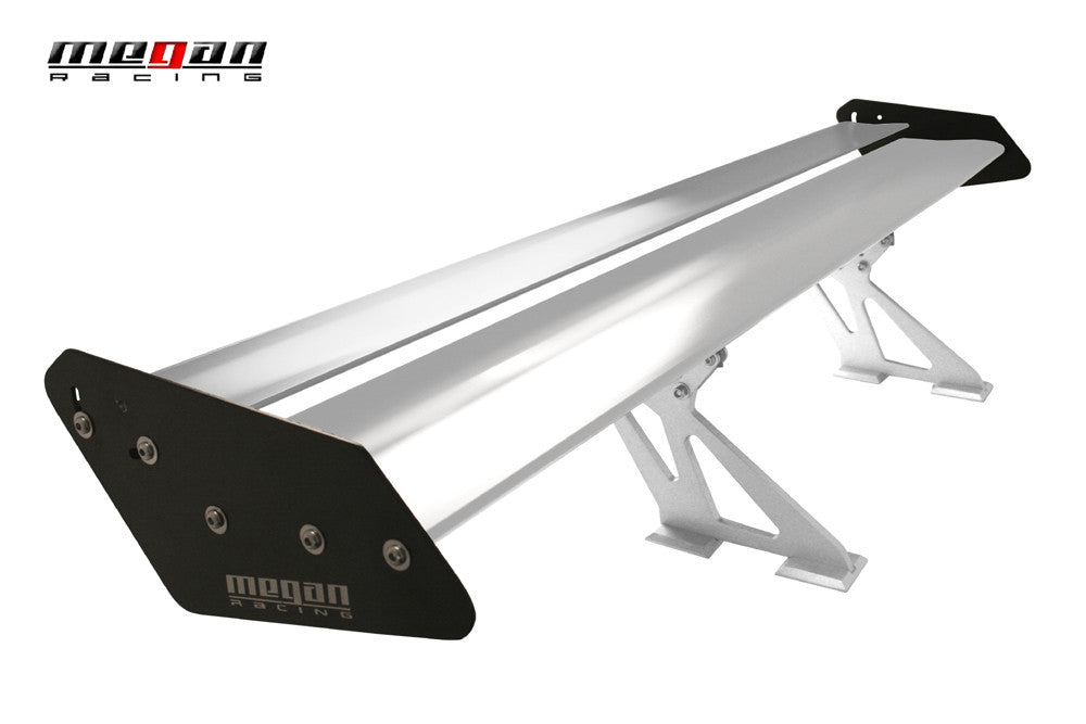 "Megan Racing Spoiler - Universal Aluminum for Universal GT Spoiler Color : Silver/Black Size : W56"" x T12"" MR-AS-GT56"