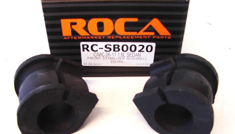ROCAR Stabilizer Bushings for 06-11 Honda Civic 1.8L Sedan ROCA Front Stabilizer Bushings 24.3mm ID DS PS 2pc RC-SB0020