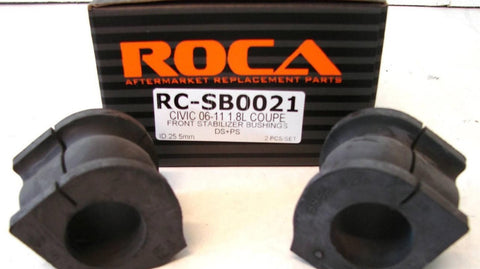 ROCAR Stabilizer Bushings for 06-11 Honda Civic 1.8L Coupe ROCA Front Stabilizer Bushings 25.5mm ID DS PS 2pcs RC-SB0021