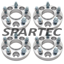 "Spartec Wheel Spacers (Set 4pcs) for 4PC 25mm (1"") 5x114.3 5x4.5 66.1 Center Bore 12x1.25 WA-SPC-87273"