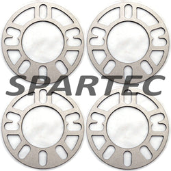 Spartec Wheel Spacers (Set 4pcs) for 4PC 3mm UNIVERSAL TO FIT 4x98, 4x100, 4x108, 4x110, 4x114.3, 4x120, 4x130, 5x100, 5x108, 5x112, 5x11 WA-SPC-87275