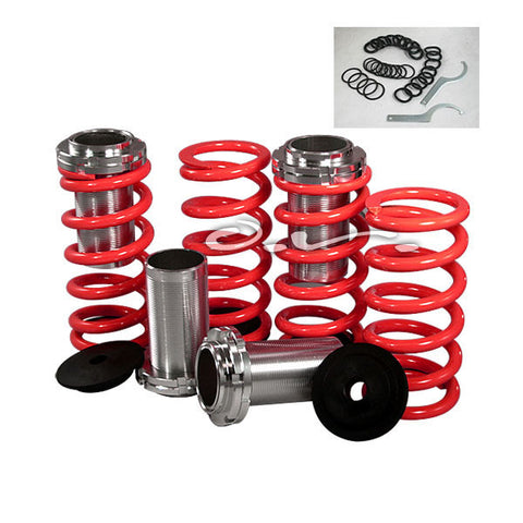 Performance Group Coilover Sleeve Kits (Red Spring) for 1989-91 Honda Civic CSR-CV88IN90R-8991CIVIC