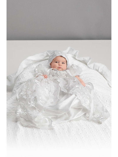 3-Piece White Christening Set  white alt2