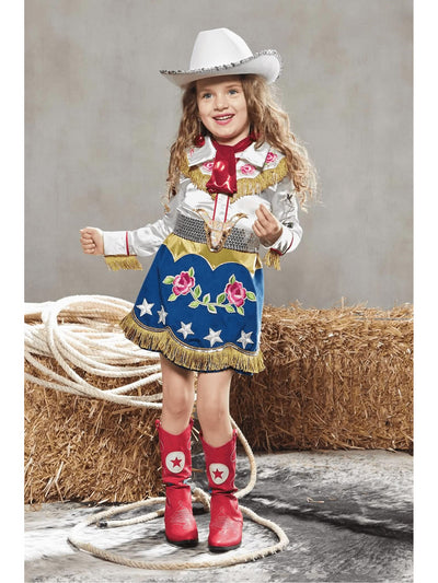 '40s Cowgirl Costume For Girls  blu alt1