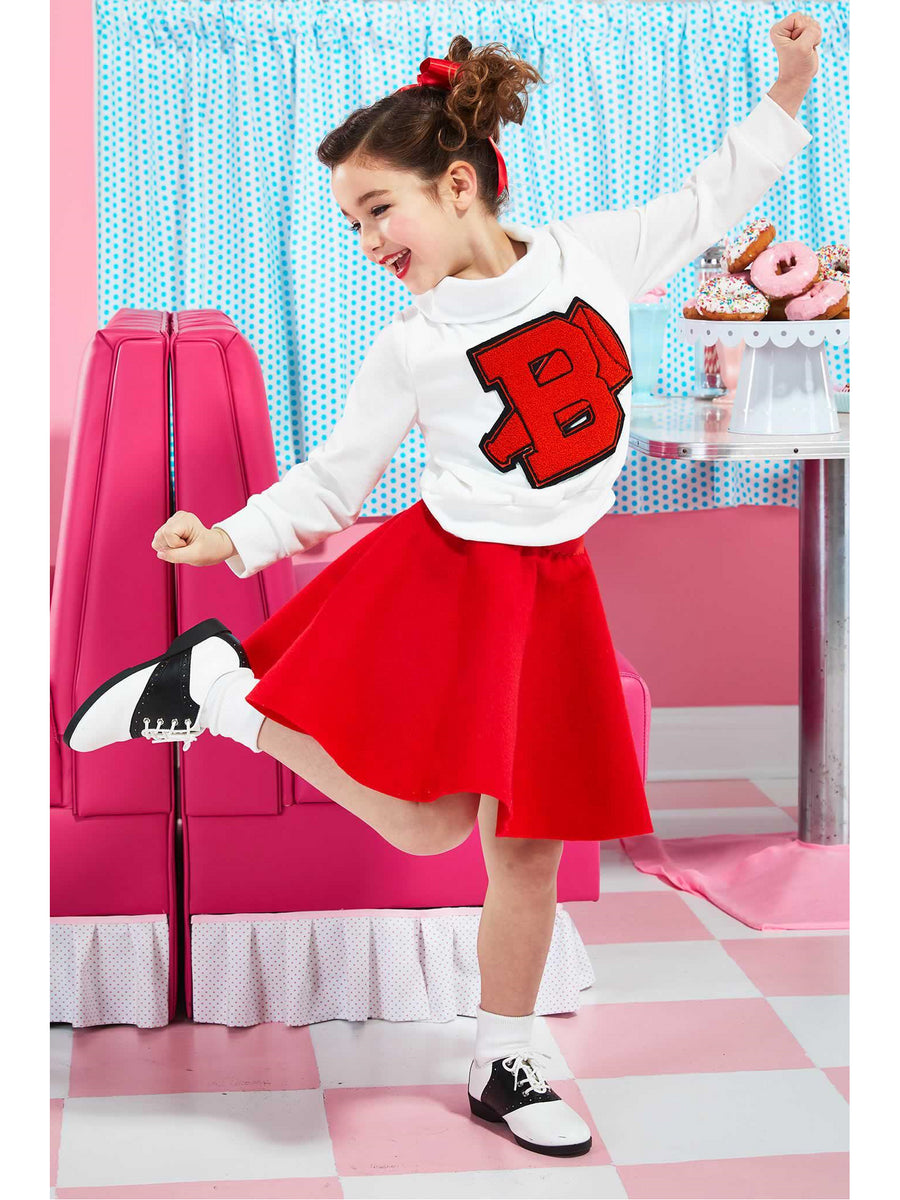 '50s Cheerleader Costume for Girls
