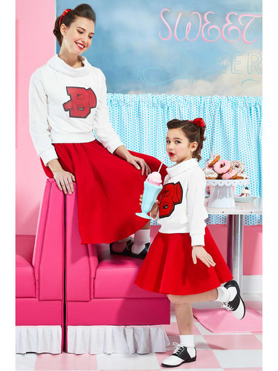 '50s Cheerleader Costume for Women  red alt1