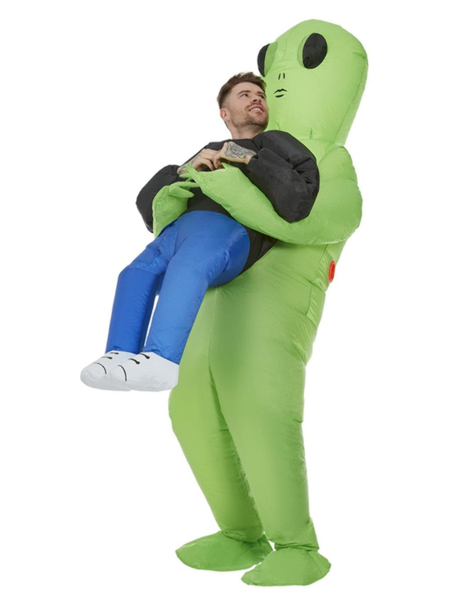Inflatable Alien Abduction Costume, Green