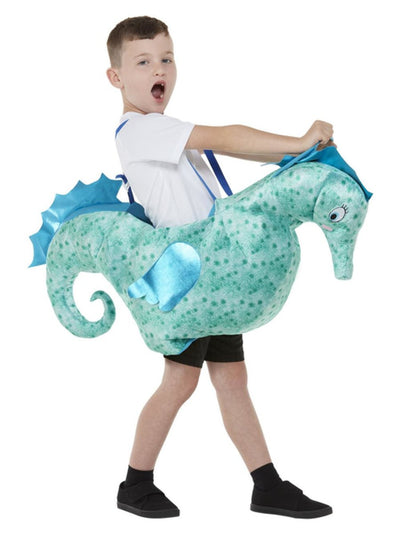 Kids Ride-In Seahorse Costume Alt1