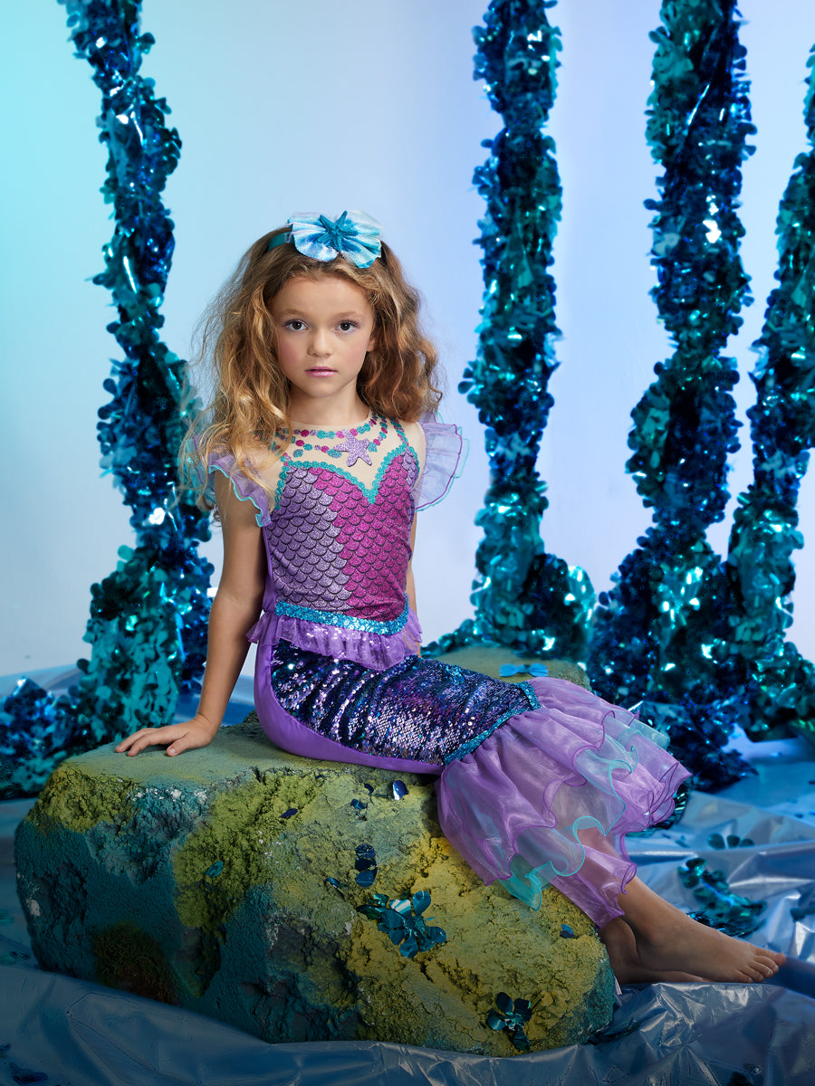 Sequin Mermaid Costume for Girls
