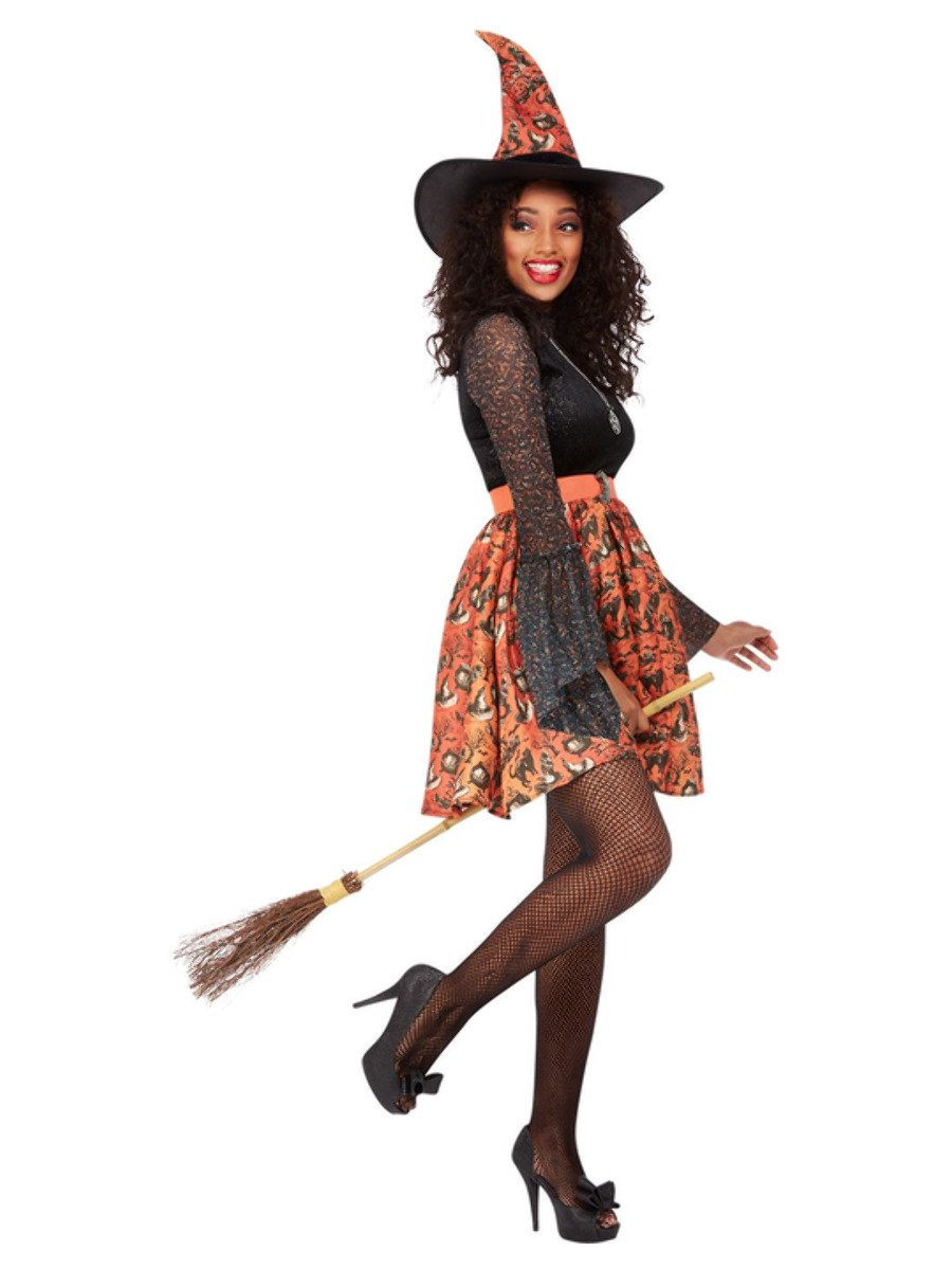 Vintage Witch Costume, Orange