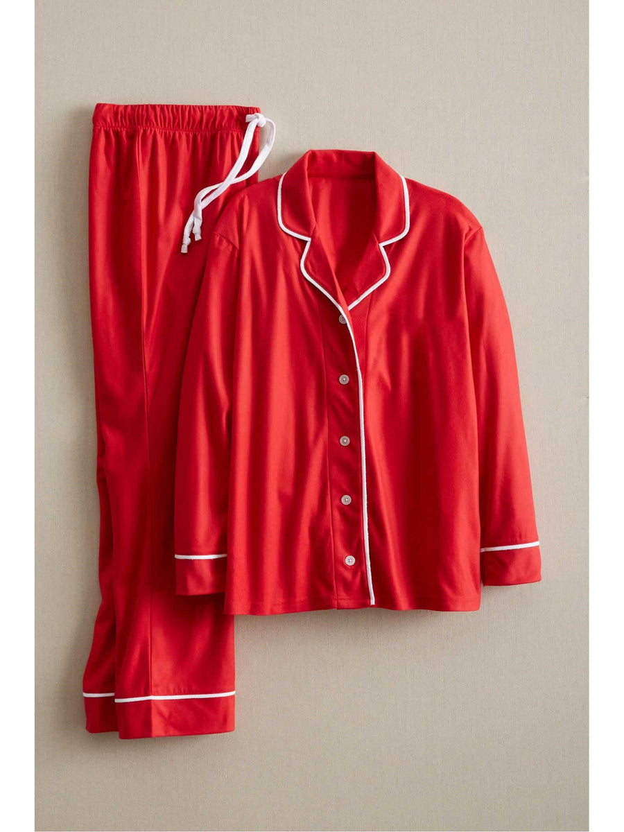Adults Classic Red Microfleece PJ's
