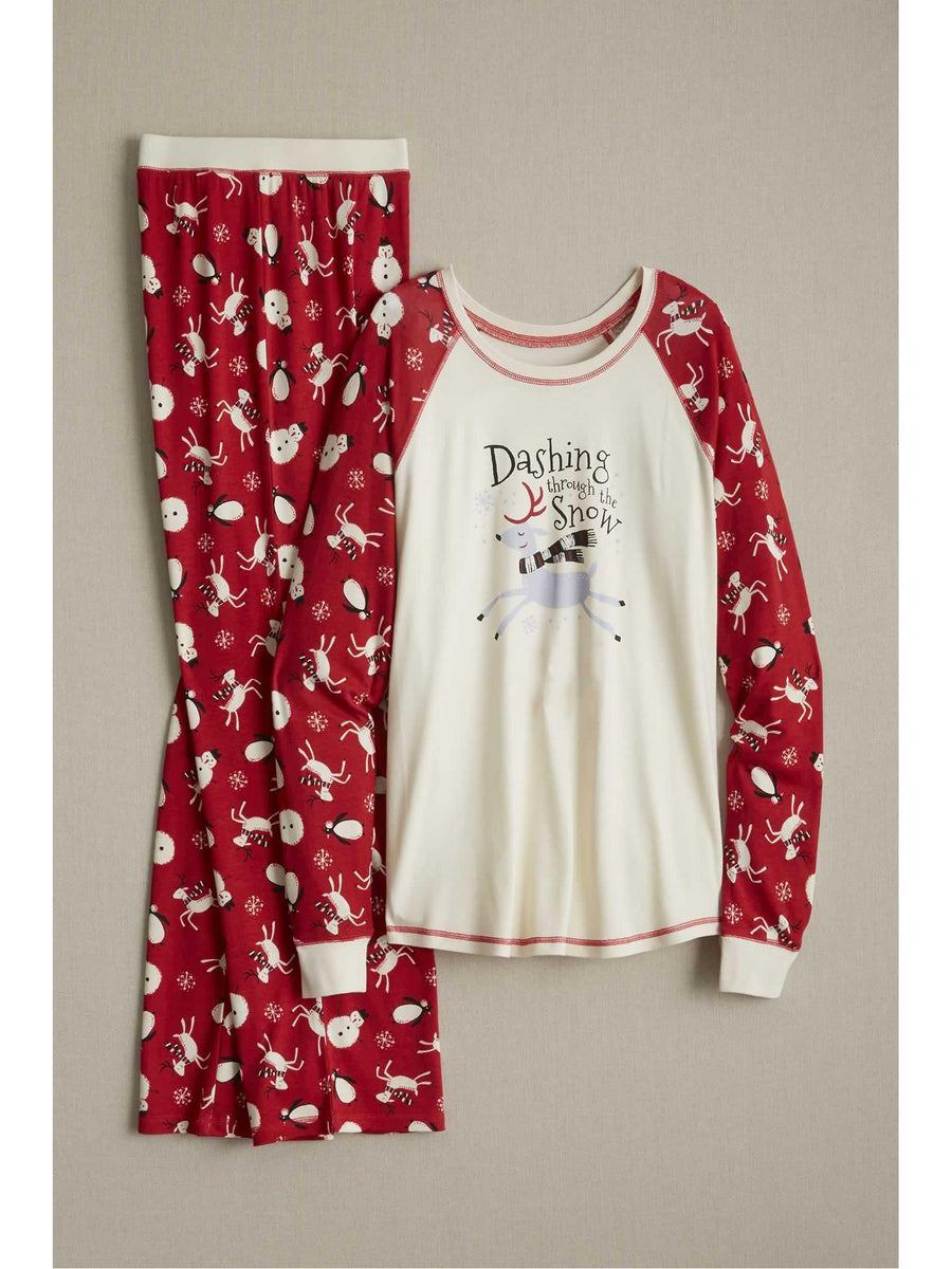 Adults Dashing Reindeer Pj's