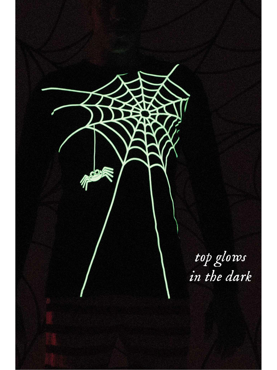 Adults Glow-in-the-Dark Spiderweb PJ's
