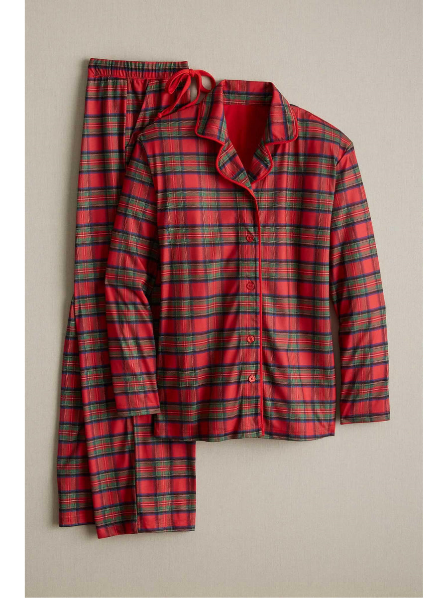 Adults Plaid Knit Pj's