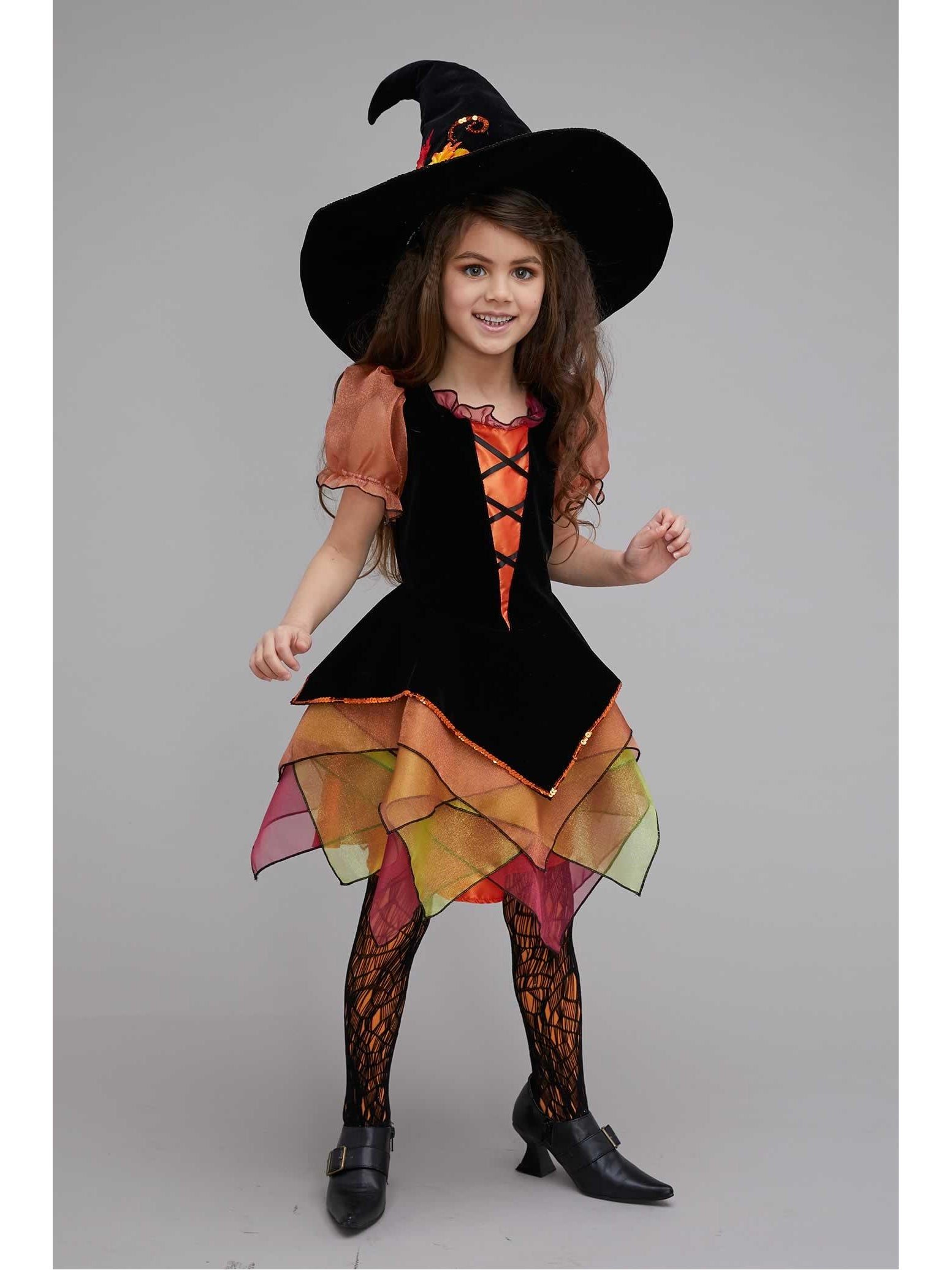 Autumn Witch Costume For Girls Chasing Fireflies