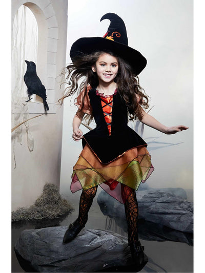 Autumn Witch Costume for Girls  ora alt1